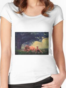 Misty Meadow Morning Women's Fitted Scoop T-Shirt