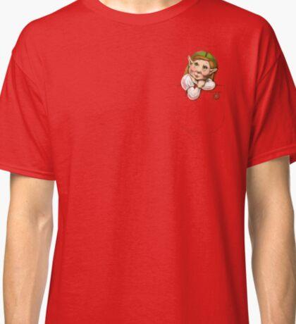 Cute pocket elf girl Classic T-Shirt
