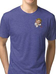 Cute pocket elf girl Tri-blend T-Shirt