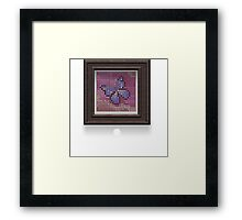 Glitch furniture wall decor butterfly half tone art Framed Print