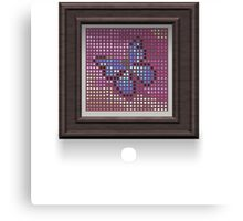 Glitch furniture wall decor butterfly half tone art Canvas Print