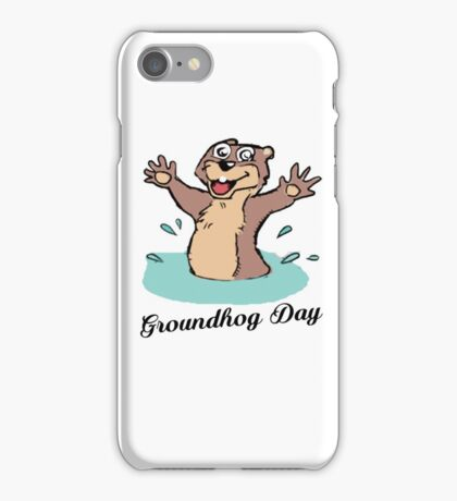Happy Groundhog Day Canada iPhone Case/Skin