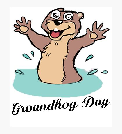 Happy Groundhog Day Canada Photographic Print