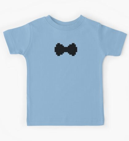 Pixel Black Bow Kids Tee