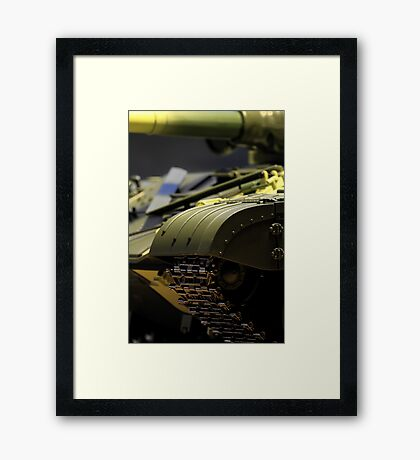 armored tank close to Framed Print