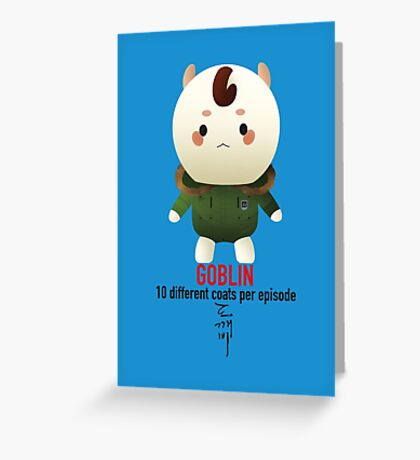 Goblin - 10 different coats Greeting Card