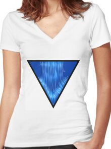 Water symbol Women's Fitted V-Neck T-Shirt