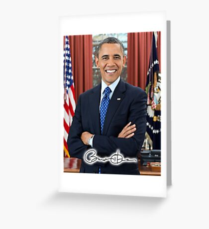 Barack Obama, 44th, President of the United States Greeting Card