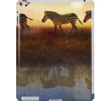 moving north zebras and ibis   iPad Case/Skin