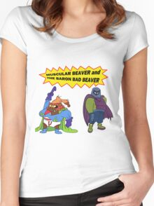 Beaver Heroes Women's Fitted Scoop T-Shirt