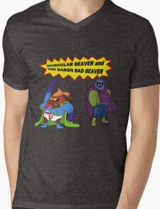 Beaver Heroes Mens V-Neck T-Shirt