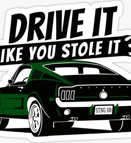 68 Mustang Fastback green Sticker