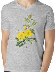 Yellow rose Mens V-Neck T-Shirt