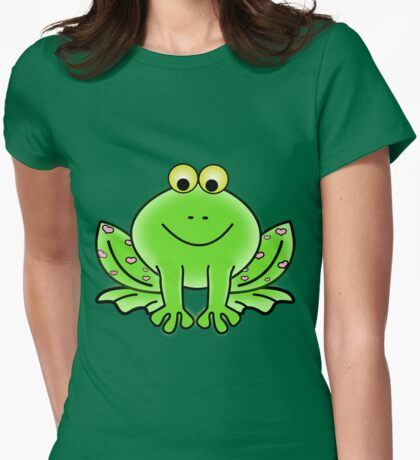 Jessica the Frog Womens Fitted T-Shirt