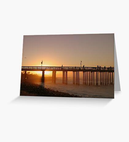 Sunrise Pier Ventura Greeting Card