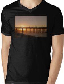 Sunrise Pier Ventura Mens V-Neck T-Shirt