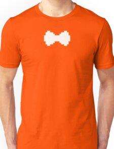 Pixel White Bow Unisex T-Shirt