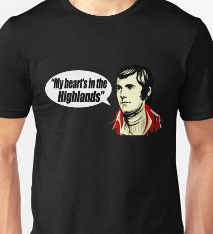 My Heart's In The Hoghtlands - Robert Burns Unisex T-Shirt