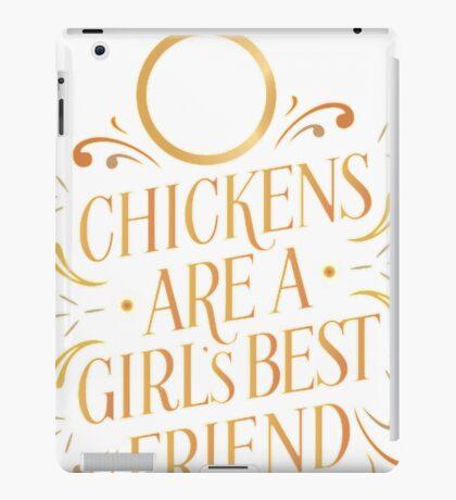 Chickens Are A Girls Best Friend Chicken T Shirt For Men iPad Case/Skin