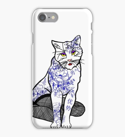 Porcelain Inked Cat iPhone Case/Skin