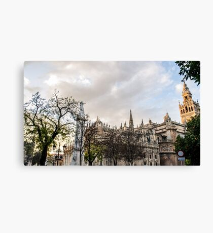 Seville - Sunset on the Cathedral Canvas Print