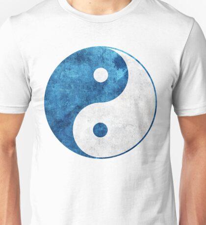 Blue Yin Yang Symbol Unisex T-Shirt