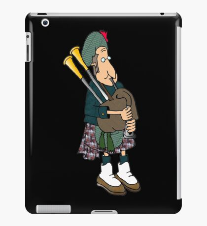 playing bagpipes - Burns night-Recovered iPad Case/Skin