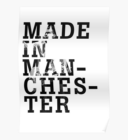 """Courteeners """"Made in Manchester"""" Poster"""