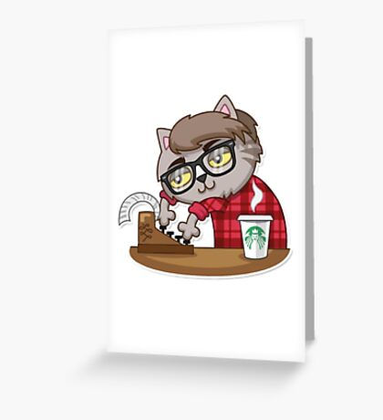 Vincent Whiskers letter Greeting Card