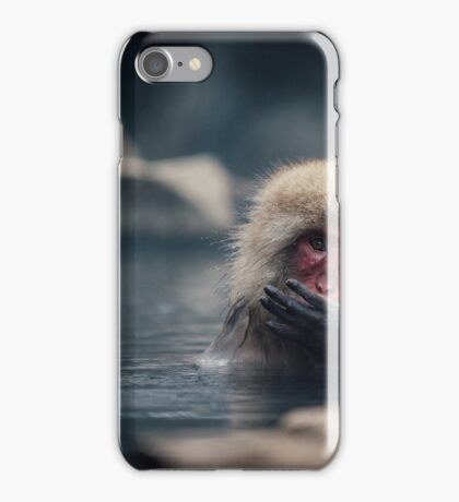 Hot Spring Snow Monkey iPhone Case/Skin