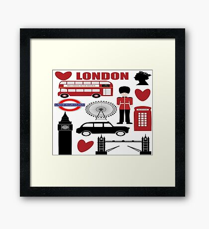 London Icons Framed Print