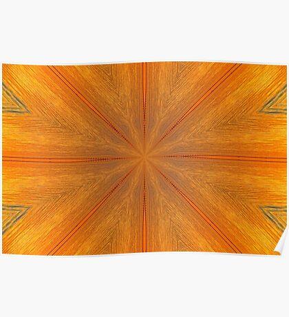 Psychedelic Orange Mandala Poster