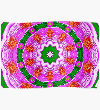 Psychedelic Pink Mandala Poster