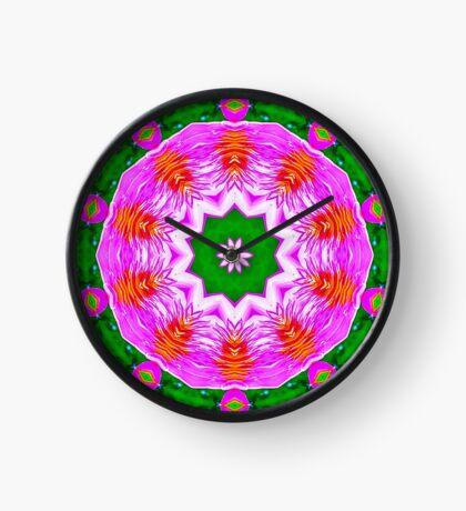 Psychedelic Pink Mandala Clock