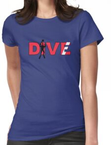 Scuba Diver Dive Flag Underwater Womens Fitted T-Shirt