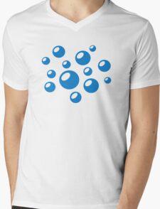 Blue Bubbles Mens V-Neck T-Shirt