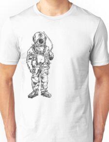 Antique Old Fashioned Ancient Scuba Diver Dry Suit Unisex T-Shirt