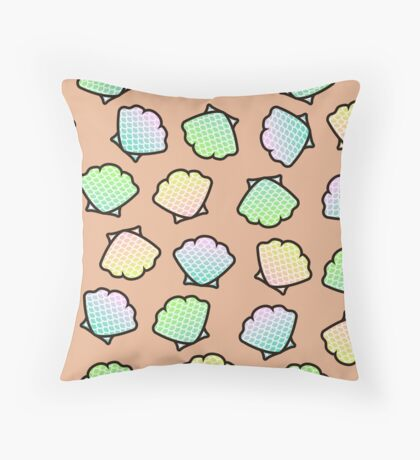 Mermaid Shells Throw Pillow