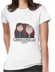 Sherlock - Baker Street Boys Womens Fitted T-Shirt