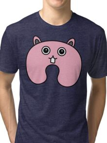 Cute Pink Fluffy Bunny Tri-blend T-Shirt