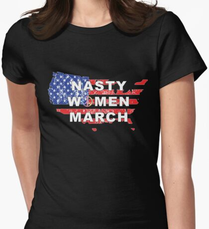 Nasty Women March Womens Fitted T-Shirt