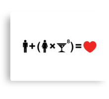 The Love Equation for Women Canvas Print