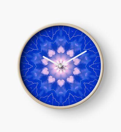 Psychedelic Blue & Pink Mandala Clock