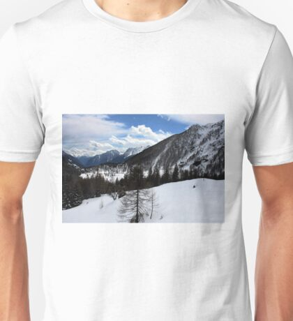 Winter in the Swiss Alps Unisex T-Shirt