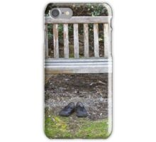 Empty Bench Empty Shoes  iPhone Case/Skin
