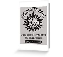 SUPERNATURAL - WINCHESTER BROTHERS Greeting Card