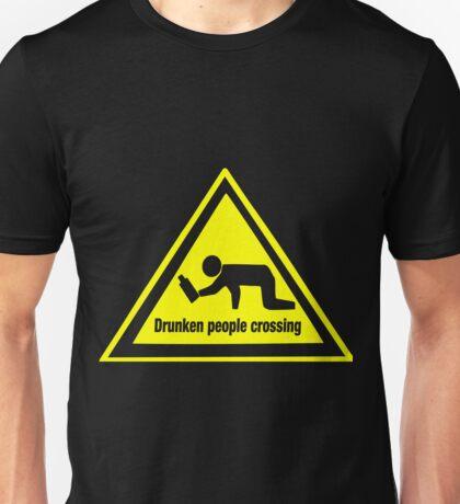 Drunken People Crossing Funny Drinking  Unisex T-Shirt