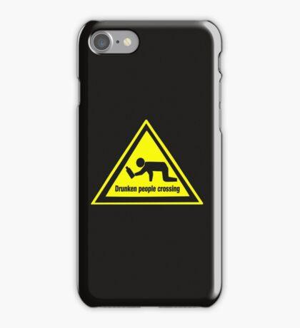 Drunken People Crossing Funny Drinking  iPhone Case/Skin