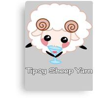 Tipsy Sheep Yarn! Canvas Print