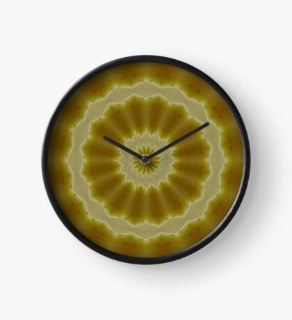 Psychedelic Golden Mandala Clock